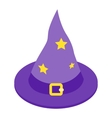 Witch hat isometric 3d icon vector image vector image