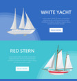 world yachting posters with luxury sailboats vector image
