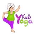 Cute girl doing kundalini yoga vector image