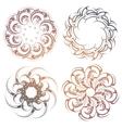 Circle lace ornament set vector image