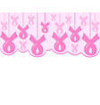 a breast cancer pink ribbon vector image vector image
