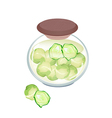 A Jar of Delicious Pickled Brussels Sprouts vector image