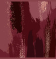 abstract grunge pattina effect dark red gold vector image vector image