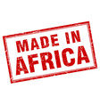 Africa red square grunge made in stamp vector image vector image