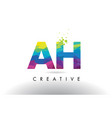 ah a h colorful letter origami triangles design vector image vector image