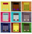 assembly flat shading style icon economy vector image vector image