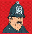 avatar portrait of a british police officer vector image vector image
