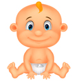 Baby boy cartoon vector image vector image