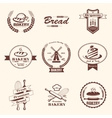 bakery retro emblem and labels collection design vector image vector image