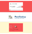 beautiful beach logo and business card vertical vector image vector image