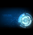 blue technology abstract futuristic cyber vector image vector image