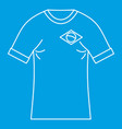 Brazilian football t shirt icon simple style vector image