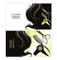 business card a beauty salon with golden curls vector image vector image