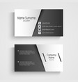 Business card with black and white sticker vector image vector image