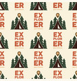 camping explorer pattern design - outdoors vector image vector image