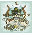 Captain skull logo design - Sailing Collection vector image