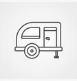 caravan icon sign symbol vector image