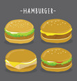 cartoon hamburger character vector image