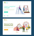 children playground welcome to amusement park vector image vector image