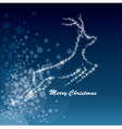 Christmas deer starry background vector image vector image
