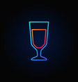 colorful wine glass icon vector image vector image