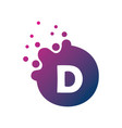 dots letter d logo d letter design with dots vector image