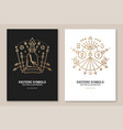 esoteric symbols poster flyer thin line vector image vector image