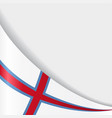 faroe islands flag background vector image vector image