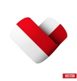 Flag icon in the form of heart I love Monaco vector image vector image