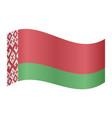 flag of belarus waving on white background vector image vector image