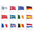 flags realistic set vector image vector image