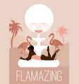 flamazing hand drawn girl vector image