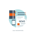 Flat background Online news vector image