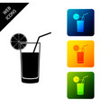 glass juice icon isolated on white background vector image vector image