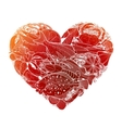 Graphic seafood in the shape of heart vector image