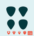 guitar pick or plectrum vector image