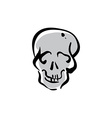hand drawn human skull icon vector image