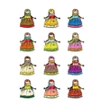 Handmade folk doll mascot collection for your vector image