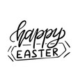 happy easter lettering greeting card template vector image