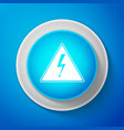 high voltage icon arrow in triangle warning icon vector image
