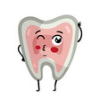 human tooth cute cartoon character vector image vector image