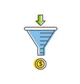 internet marketing strategy concept sale funnel vector image vector image