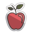 Isolated apple fruit design vector image
