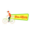italian pizza food delivery isolated sticker vector image