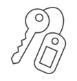 key thin line icon close and safety unlock sign vector image vector image