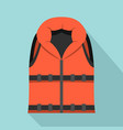 lifeguard vest icon flat style vector image vector image