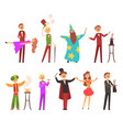 magician in the circus show magic tricks magic vector image vector image