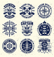 maritime thematic set nine emblems vector image vector image