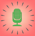 microphone character singing and the music vector image