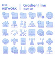 network flat icon set internet symbols collection vector image vector image